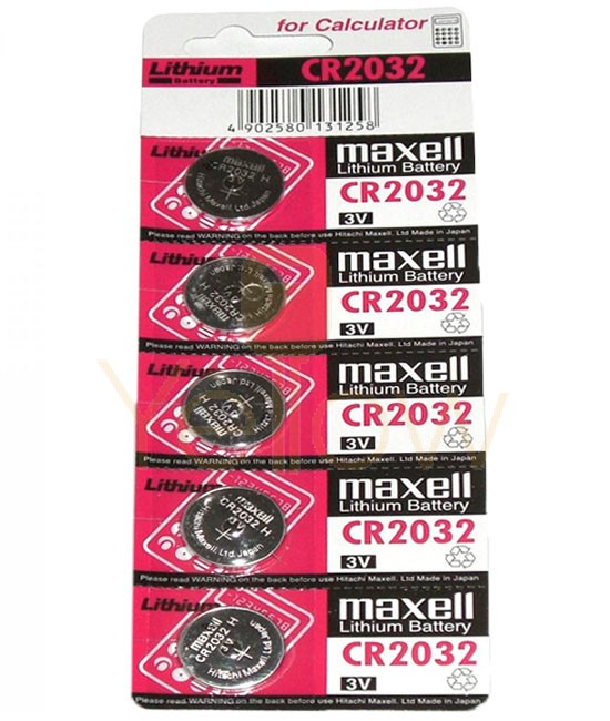 MAXELL CR2032 BATTERY 5-PACK