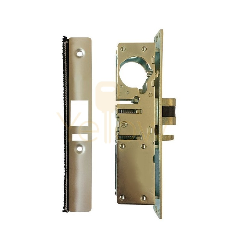 ADIR - COMMERCIAL STOREFRONT DEAD-LATCH NARROW STILE MORTISE LOCK - 1-1/8' - LEFT HANDED (ALUMINUM FINISH) (MADE IN TAIWAN)