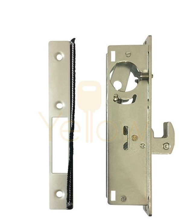 ADIR - COMMERCIAL STOREFRONT HOOK BOLT NARROW STILE MORTISE LOCK - 31/32'' (ALUMINUM FINISH) (MADE IN TAIWAN)
