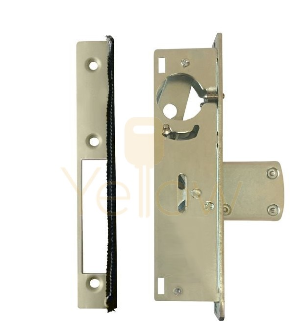 ADIR - COMMERCIAL STOREFRONT DEAD-BOLT NARROW STILE MORTISE LOCK - 1-1/8'' (ALUMINUM FINISH) (MADE IN TAIWAN)