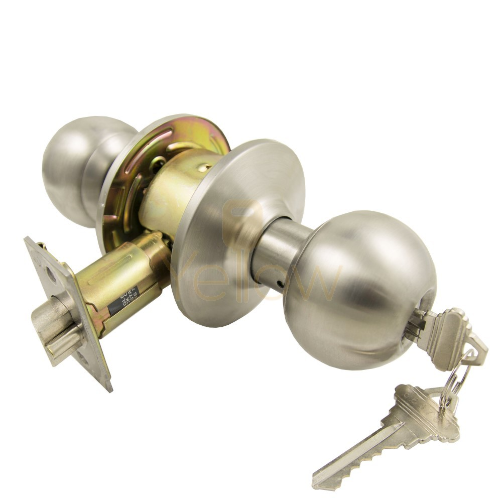 ADIR K250N21 GRADE 2 DOOR KNOB SC4 - ENTRY-32D KEYED ALIKE