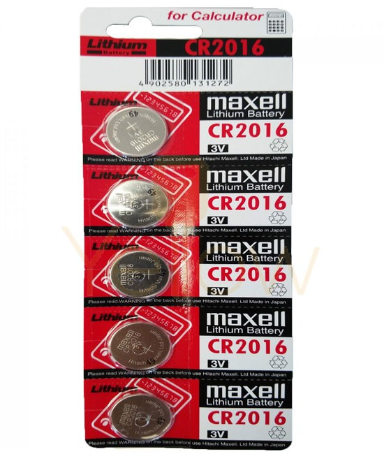MAXELL CR2016 BATTERY 5-PACK