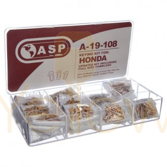 ASP A-19-108 TUMBLER KEYING KIT (UPDATED) FOR HONDA 4-TRACK HIGH SECURITY (HON66)