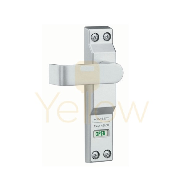 ADAMS RITE 4550L-01-130 LEVER FOR MS1850A, MS1850S DEADLOCKS - THICK DOOR (1-3/4 TO 2 INCH) - LEFT HAND/LEFT HAND REVERSE - CLEAR ALUMINUM