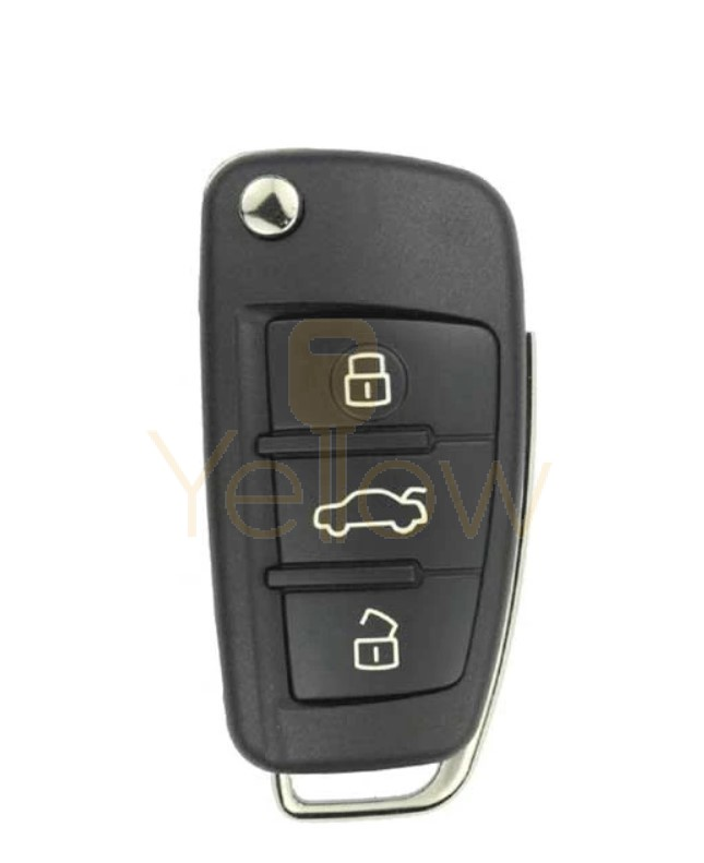 REPLACEMENT 2006-2015 AUDI 3 BUTTON FLIP KEY  8E CHIP - 4F0837220