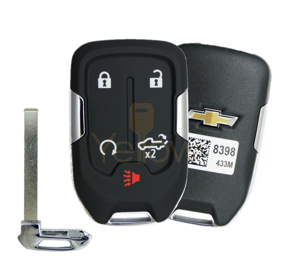 2019 CHEVROLET SILVERADO 5 BUTTON SMART KEY REMOTE START & TAILGATE - PN 13508398 / 13529632