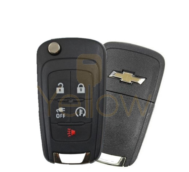 2014-2016 CHEVROLET SPARK 5 BUTTON REMOTE FLIP KEY - PN 94543206