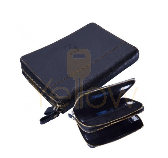 ORIGINAL LISHI - LEATHER WALLET WITH ZIPPER - FITS 32 TOOLS