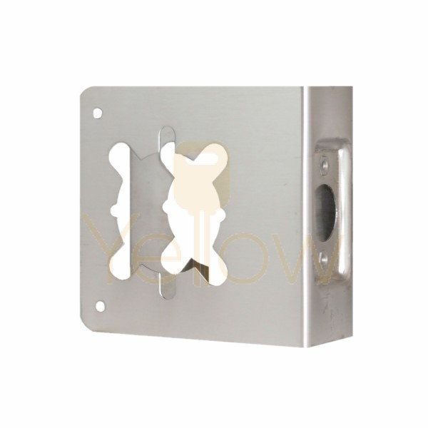 DON-JO 81-2CW WRAP AROUND PLATE FOR USE WITH GRADE 1 & 2 KEY-IN-LEVERS (SATIN STAINLESS STEEL)