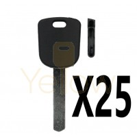 (25 PACK) KEY SHELL HON66 CHIPLESS - WITH PINHOLE RELEASE FOR HONDA
