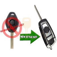 BMW REMOTE FLIP KEY 2 TRACK CAS (CHIP 46)