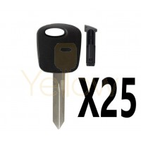 (25 PACK) H72 H74 H86 KEY SHELL WITH CHIP HOLDER