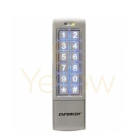SECO-LARM - ACCESS CONTROL DIGITAL KEYPAD - 1010 USERS - MULLION STYLE - WEATHERPROOF - MULTI COLORED STATUS LED'S