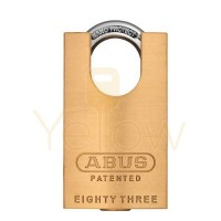 "ABUS - 83CS/45-3000 - PREMIUM LOADED BRASS PADLOCK W/ SHACKLE GUARD - S2 - SCHLAGE C-L - 5/6 PIN - REKEYABLE - 1-27/32"" WIDTH"