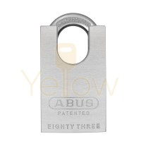"ABUS - 83CS/50-300 - CHROME PLATED BRASS PADLOCK W/ SHACKLE GUARD - S2 - SCHLAGE C - 5/6 PIN - REKEYABLE - 1-57/64"" WIDTH"