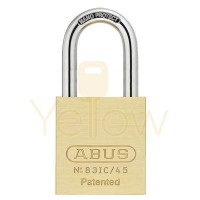 "ABUS - 83IC/45HB50 - PREMIUM LOADED BRASS PADLOCK - S2 - SFIC INTERCHANGEABLE CORE - 1-27/32"" WIDTH - 2"" SHACKLE"