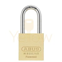 "ABUS - 83IC/45HB75 - PREMIUM LOADED BRASS PADLOCK - S2 - SFIC INTERCHANGEABLE CORE - 1-27/32"" WIDTH - 3"" SHACKLE"