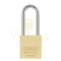 "ABUS - 83IC/45HB100 - PREMIUM LOADED BRASS PADLOCK - S2 - SFIC INTERCHANGEABLE CORE - 1-27/32"" WIDTH - 4"" SHACKLE"