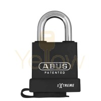 "ABUS - 83WP/53-3000 - EXTREME BLACK COATED STEEL PADLOCK - S2 - SCHLAGE C-L - 5/6 PIN - REKEYABLE - 2-1/4"" WIDTH"