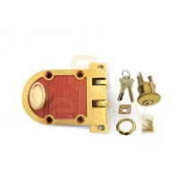 ADIR - JIMMY PROOF DEADBOLT LOCK - SOLID BRONZE ALLOY - 2 SC1 KEYS (BRUSHED BRASS)