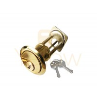"ADIR - RIM CYLINDER - HEAVY DUTY SOLID BRASS 1-1/8"" - 2 KW1 KEYS (BRASS FINISH US3)"