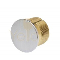 """ADIR - SOLID BRASS DUMMY MORTISE CYLINDER 1"""" (SILVER FINISH US32D)"""