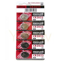 MAXELL CR2025 BATTERY 5-PACK