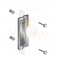 "ENTRY ARMOR - 7"" CENTER ROSE LATCH PROTECTOR (CHROME)"