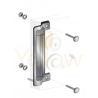 """ENTRY ARMOR - 13"""" LATCH PROTECTOR WITH 1 PIN (STAINLESS STEEL)"""