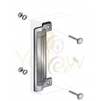 """ENTRY ARMOR - 13"""" LATCH PROTECTOR (STAINLESS STEEL)"""