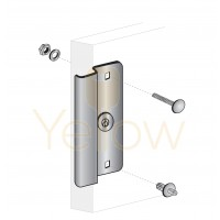 "ENTRY ARMOR - 6 1/2"" LATCH PROTECTOR FOR NARROW STILE DOORS (ALUMINUM)"
