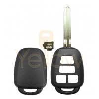 E-SHELL EXTRA STRENGTH 4 BUTTON REMOTE HEAD KEY SHELL FOR TOYOTA (TRUNK)