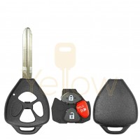 E-SHELL EXTRA STRENGTH 3 BUTTON REMOTE KEY SHELL FOR TOYOTA