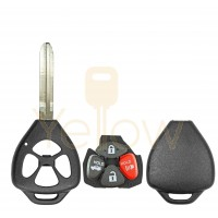 E-SHELL EXTRA STRENGTH 4 BUTTON REMOTE HEAD KEY SHELL FOR TOYOTA