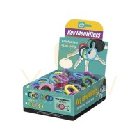 LUCKY LINE MEDIUM KEY IDENTIFIER ASSORTED - 200 PCS - DISPLAY BOX