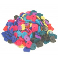KALIFORNIA KEY CHAINS - (200 PIECES) SOLID COVER KEY IDENTIFIERS IN ASSORTED COLORS
