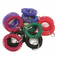 KALIFORNIA KEY CHAINS - (12 PIECES) SOFT WRIST COILS IN ASSORTED COLORS