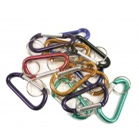 KALIFORNIA KEY CHAINS - (12 PIECES) SMALL-C-CLIP - SPRING LOADED IN ASSORTED COLORS
