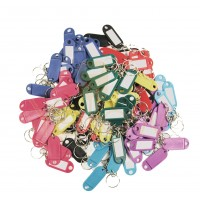 KALIFORNIA KEY CHAINS - (100 PIECES) KEY I.D. TAGS IN ASSORTED COLORS