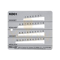 PRO-LOK - KEY DECODER FOR KW1, SC1, WK1, & WE3