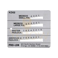 PRO-LOK - KEY DECODER FOR MEDECO, MASTER, & AMERICAN
