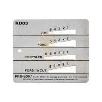 PRO-LOK - KEY DECODER FOR GM, CHRYSLER, FORD, & 10 CUT
