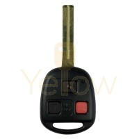 REMOTE KEY W/RED BUTTON  SHORT BLADE FOR LEXUS 3B (4D68 CHIP)