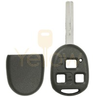 E SHELL EXTRA STRENGTH 3 BUTTON REMOTE HEAD KEY SHELL SHORT BLADE FOR LEXUS