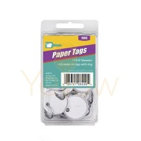 LUCKY LINE 1-1/4 PAPER TAG WITH RING - 25 PCS - CLAMSHELL