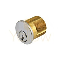 GMS 1-1/8 MORTISE CYLINDER 5-PIN, YALE CAM KWIKSET 1176 US26D KEYED-ALIKE A2 ST CAM