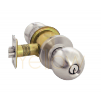 ARROW RK12 STOREROOM CYLINDRICAL KNOB LOCK (BRASS)