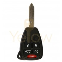 5 BUTTON REPLACEMENT REMOTE HEAD KEY W/ HATCH