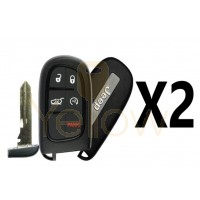 (2 PACK) 2014-2020 JEEP CHEROKEE 5 BUTTON SMART KEY PN: 68141580AG
