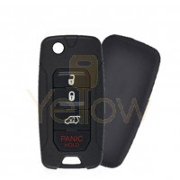 2015-2019 JEEP RENEGADE / FIAT 500X FLIP KEY W/ 48 AES CHIP (ONLY ELECTRONIC COMPONENT IS OEM)